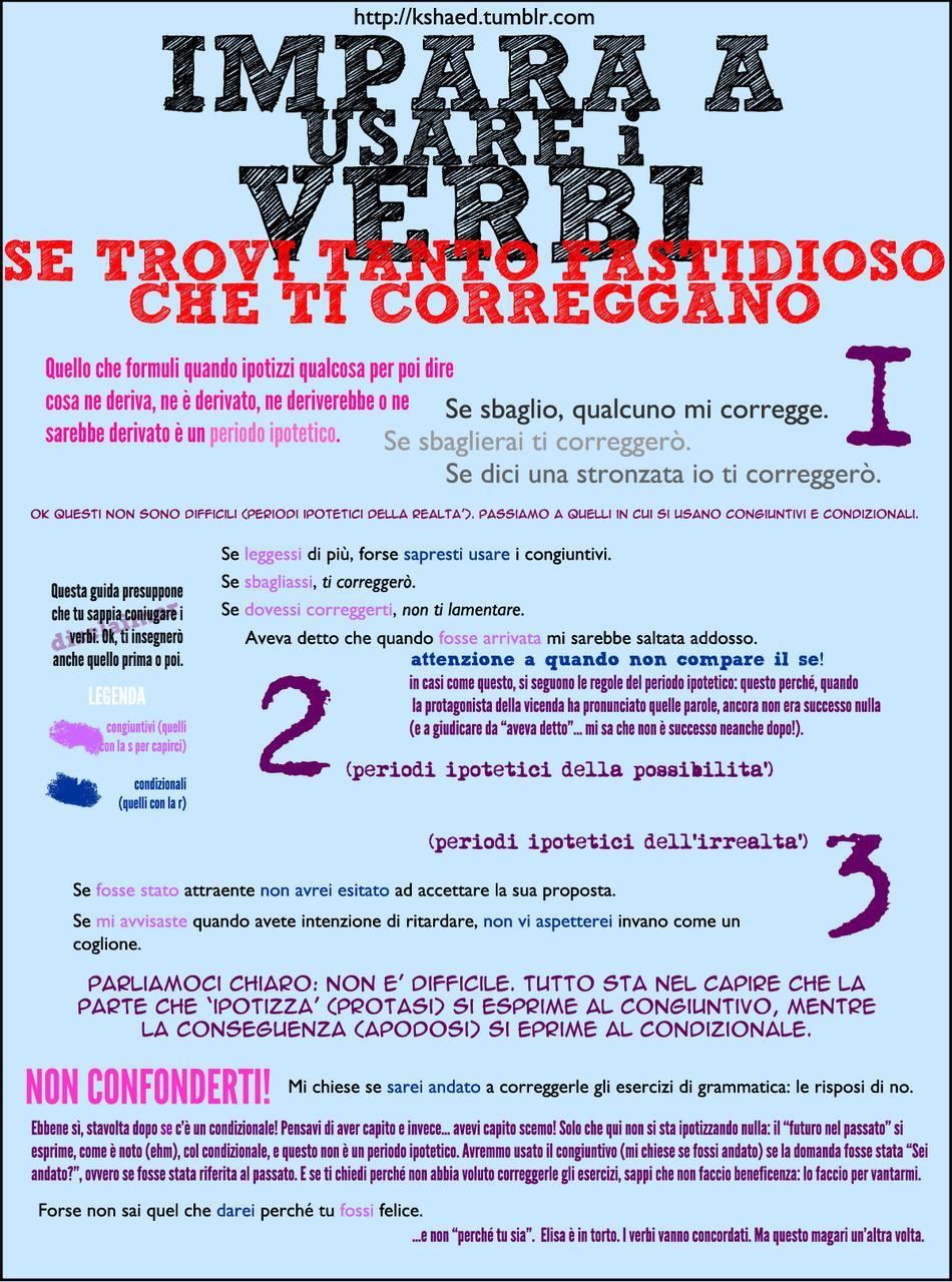 Impara ad usare i verbi