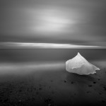Un pezzo di ghiaccio del ghiacciaio Brei amerkurjˆkull.